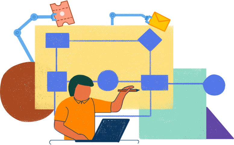 Визуализируйте и автоматизируйте процессы предоставления услуг с помощью рабочих процессов.