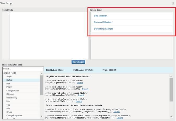 ServiceDesk Plus предоставляет образцы сценариев, которые позволяют вашим специалистам создавать настраиваемые сценарии. Чтобы создать настраиваемый сценарий