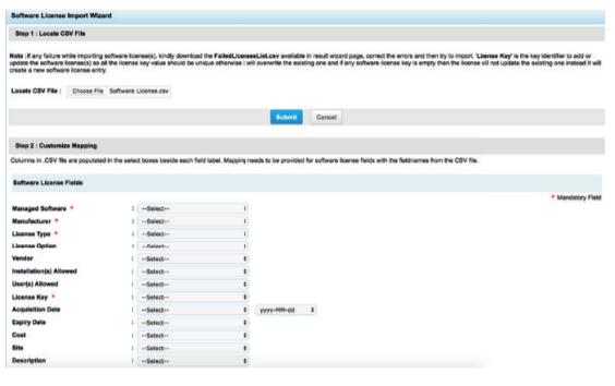 Чтобы импортировать лицензии в ServiceDesk Plus