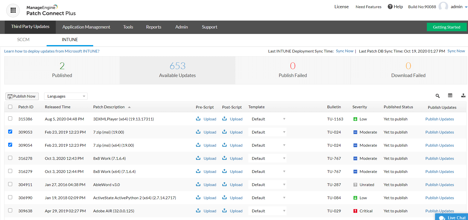 Microsoft Intune Patch Management - ManageEngine Patch Connect Plus