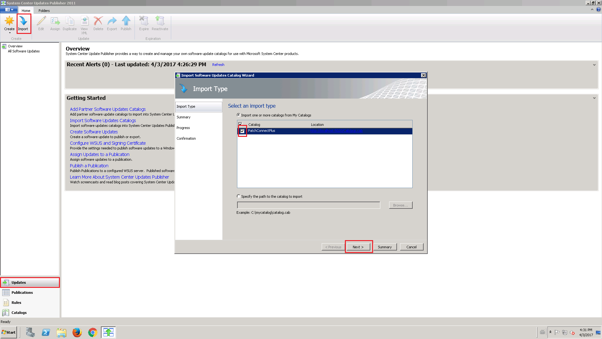Learn how to import catalogs to SCUP