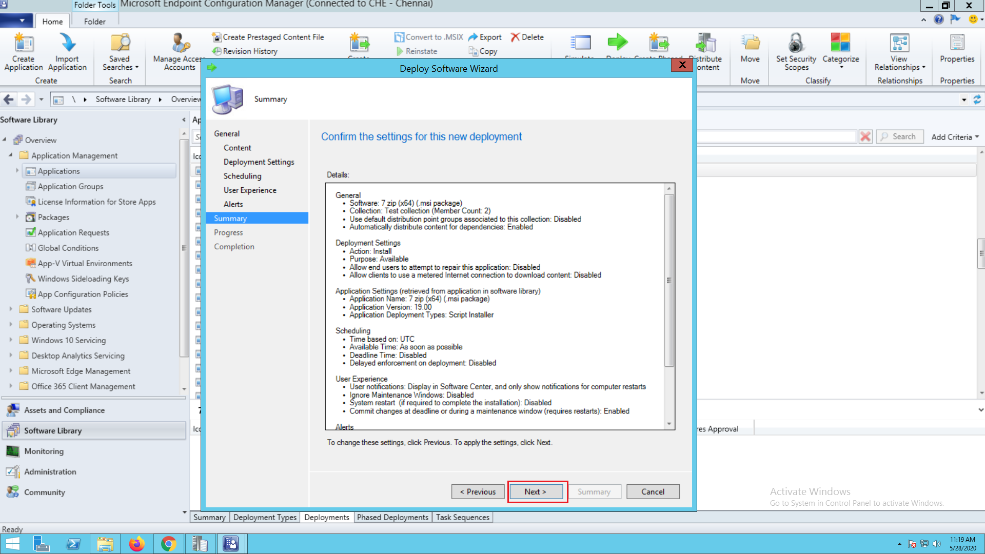 Step by step application deployment in SCCM - ManageEngine Patch Connect Plus