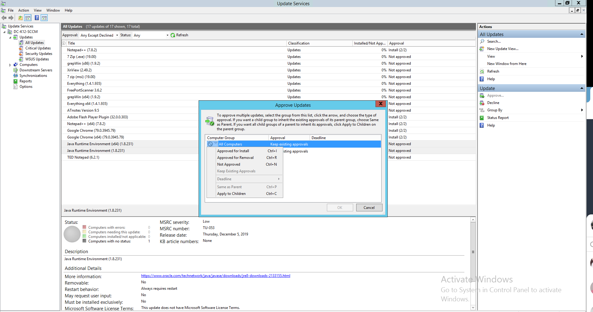 WSUS third party software - ManageEngine Patch Connect Plus