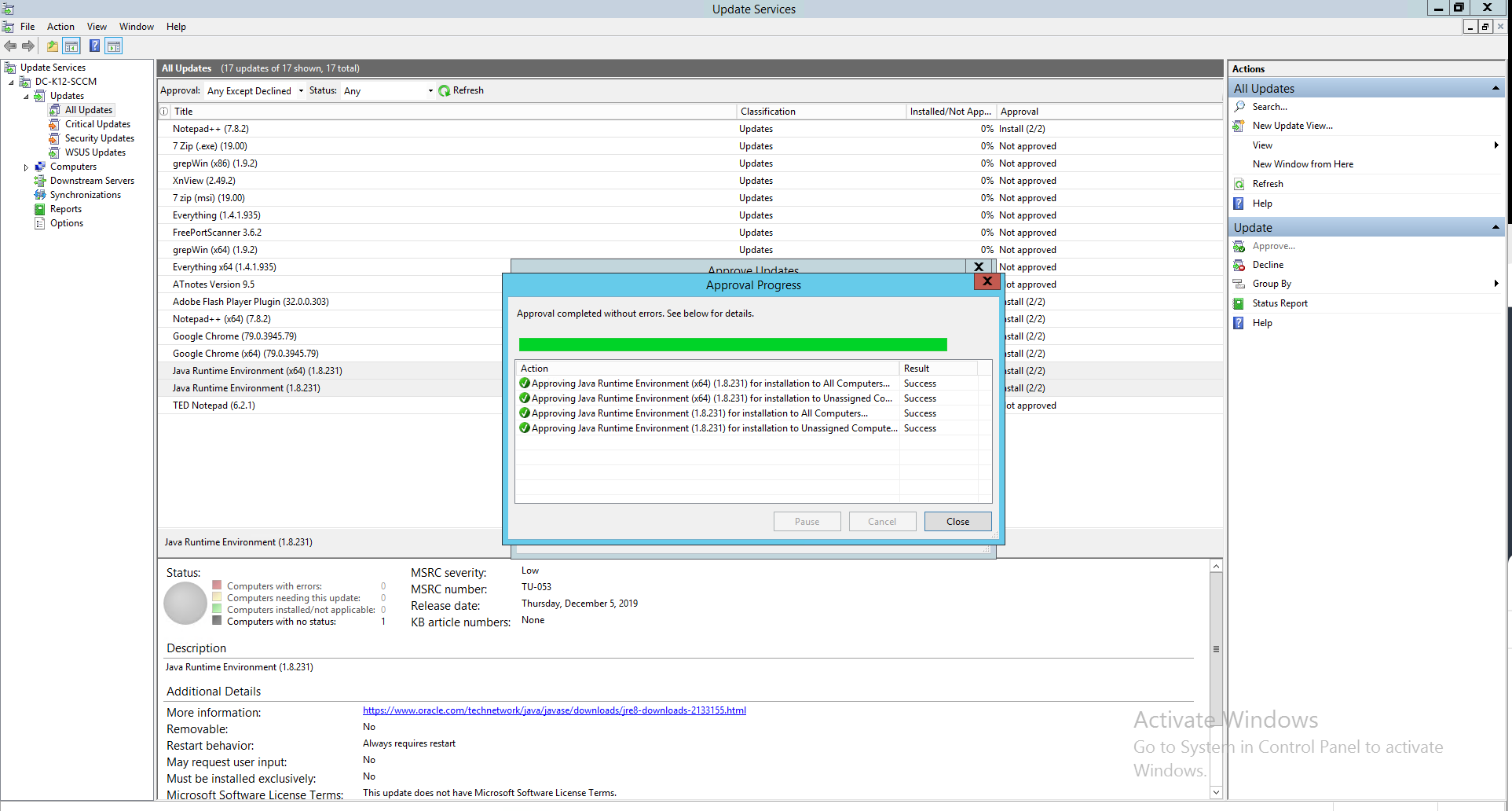 WSUS patching - ManageEngine Patch Connect Plus