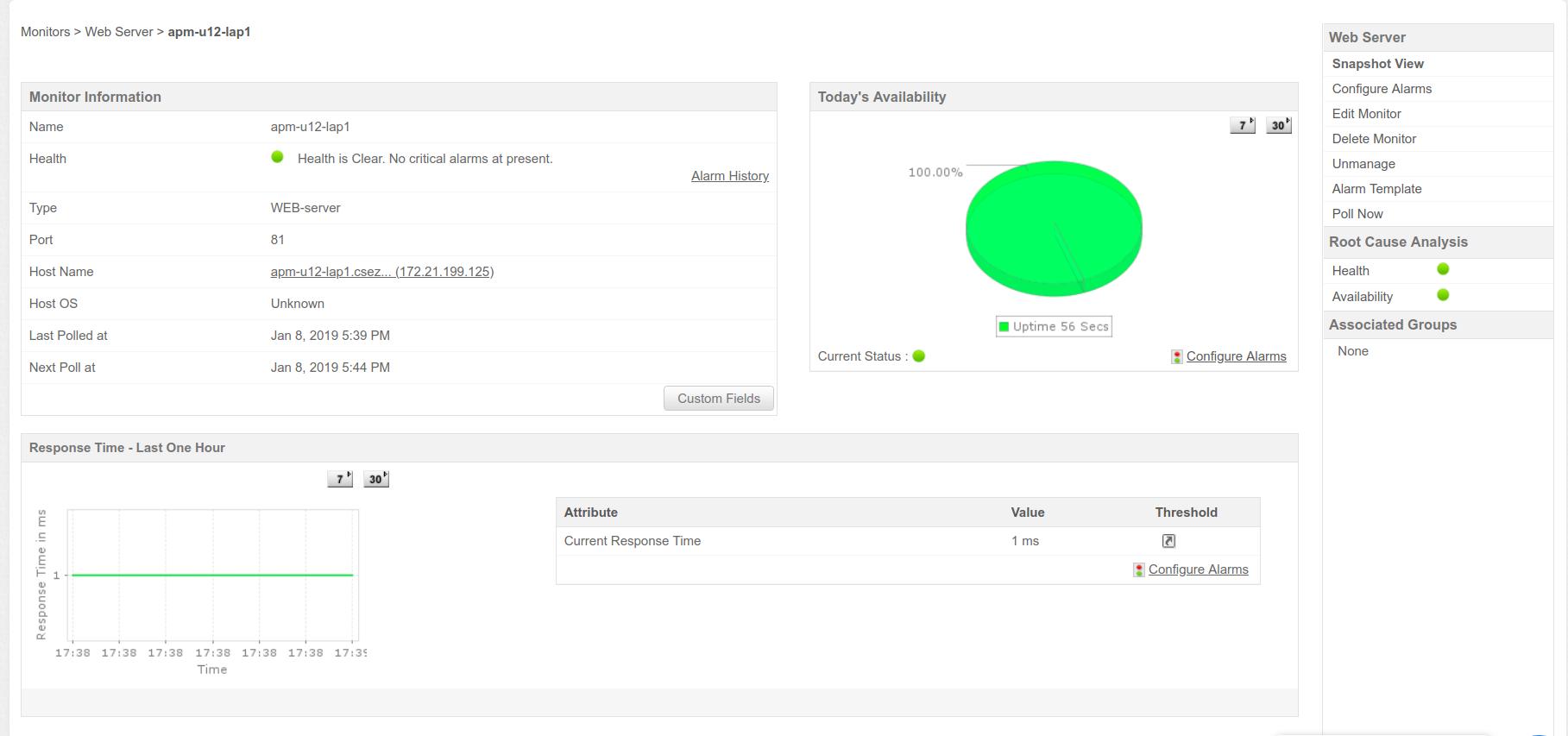 Monitor Web Server Information