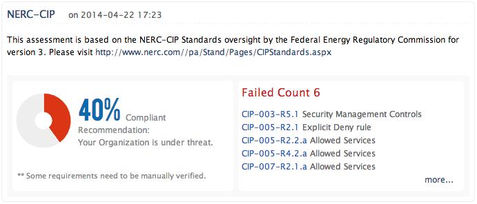 NERC CIP-efterlevnadsrapporter - ManageEngine Firewall Analyzer