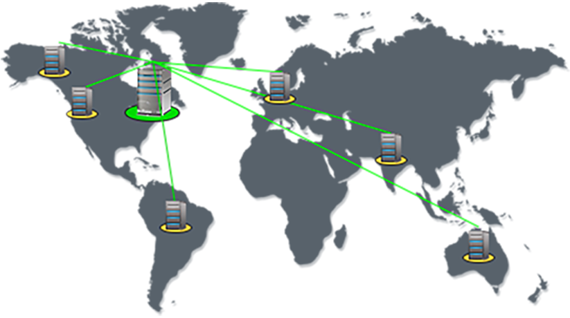Manage your entire network infrastructure distributed across geographies from a single location.