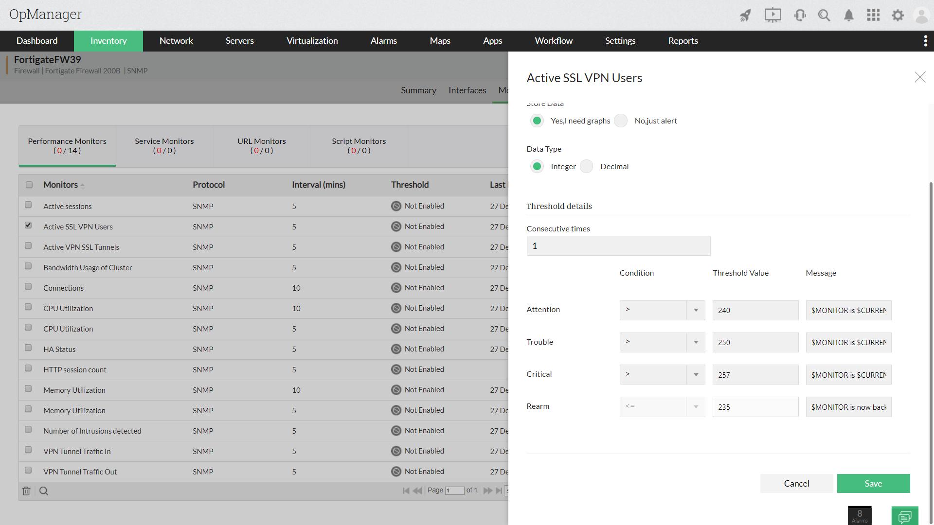 Monitor VPN Traffic - ManageEngine