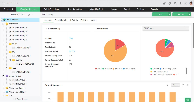 Advance IP Scanner - ManageEngine OpUtils