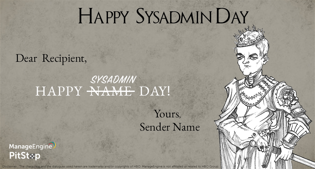 SysAdmin Day E-Cards
