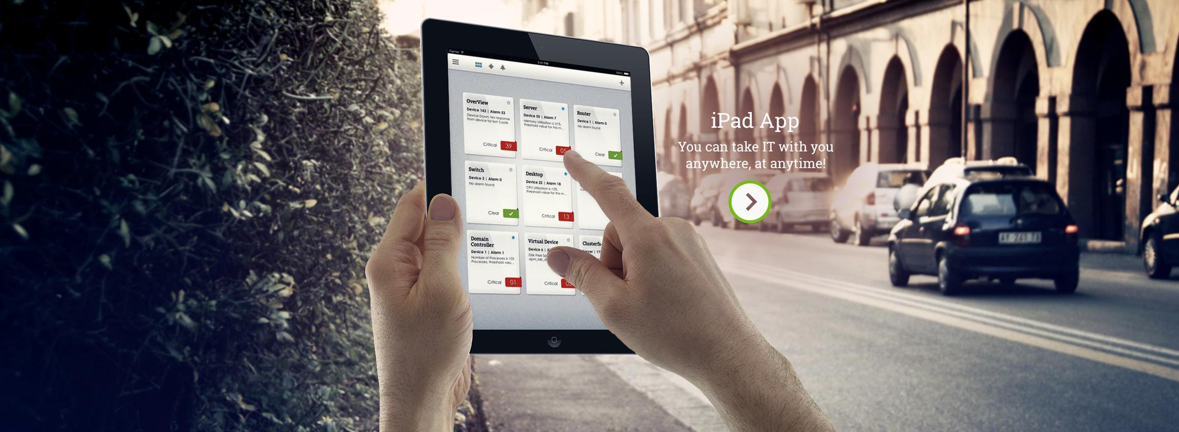 ManageEngine OpManager iPad Uygulaması