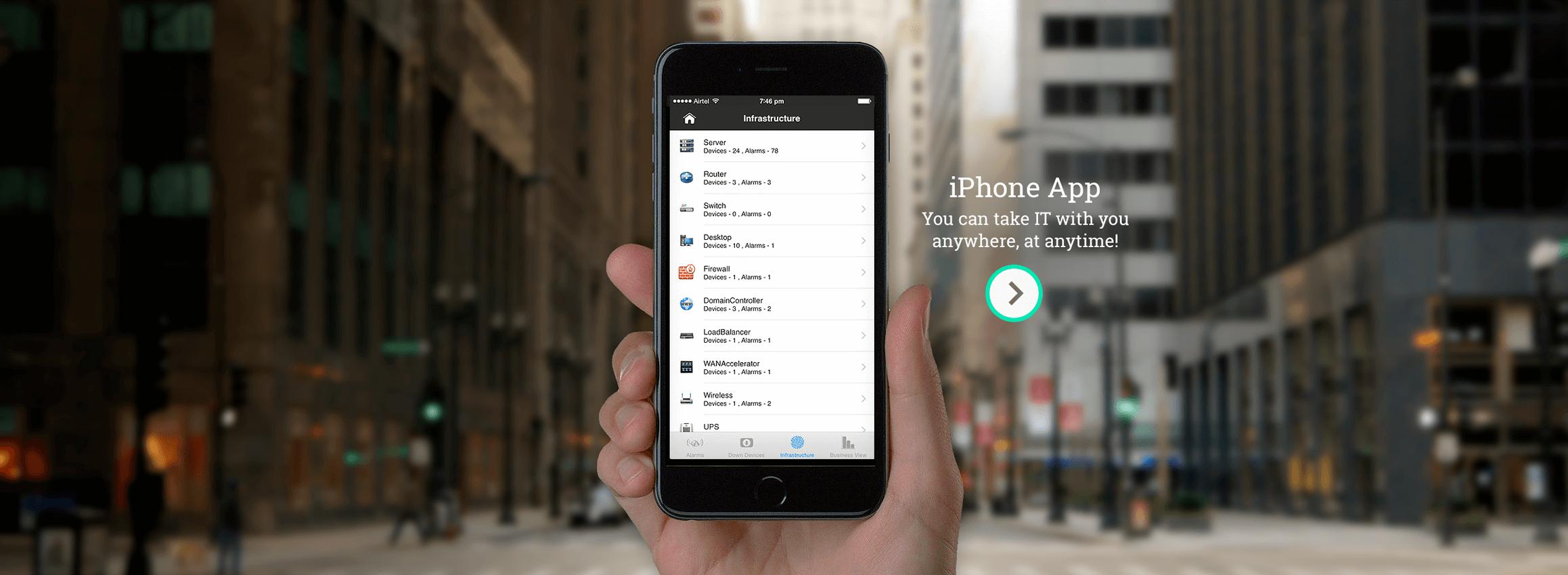 ManageEngine OpManager iPhone Uygulaması
