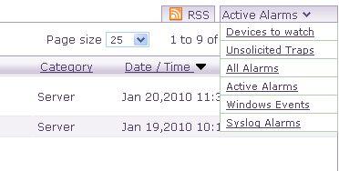 在 OpManager 中,檢視基於事件記錄檔的警示