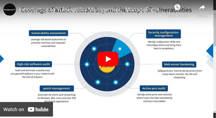 ManageEngine's risk-based vulnerability management software