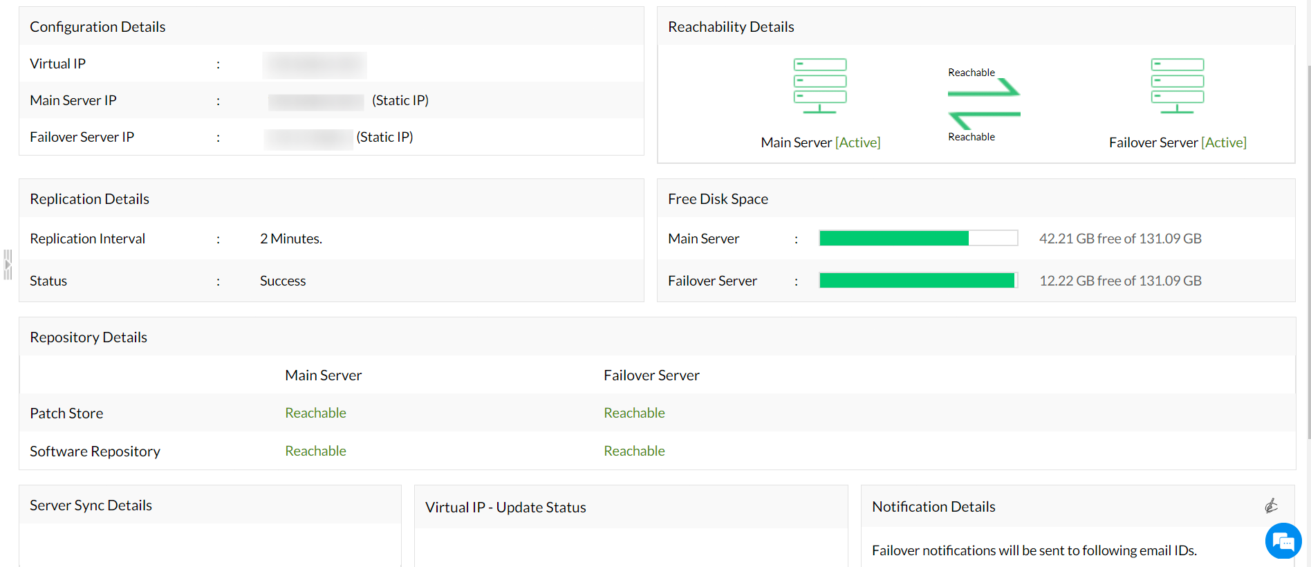 Patch Manager Plus with Failover server