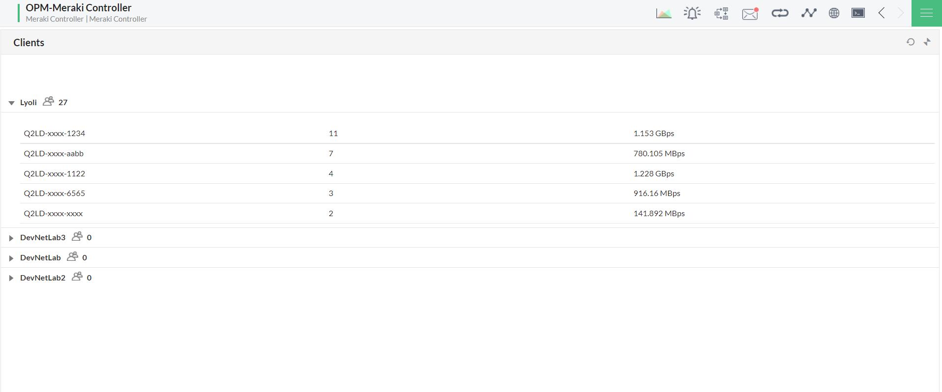 Cisco Meraki Management - ManageEngine OpManager