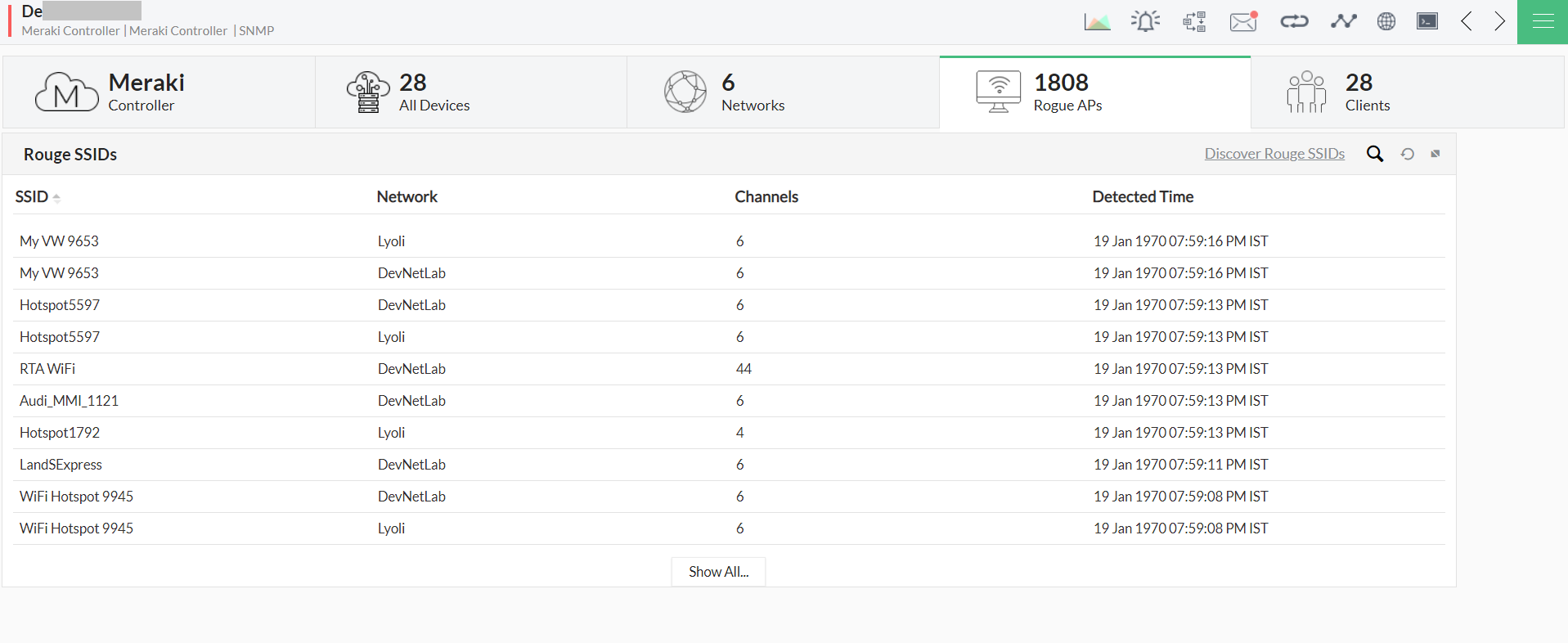 Monitor Cisco Meraki - ManageEngine OpManager