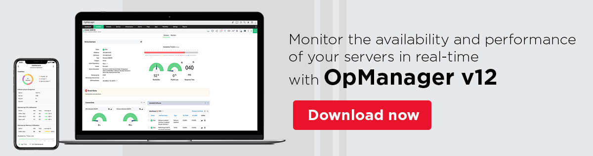 Server Monitoring - ManageEngine OpManager