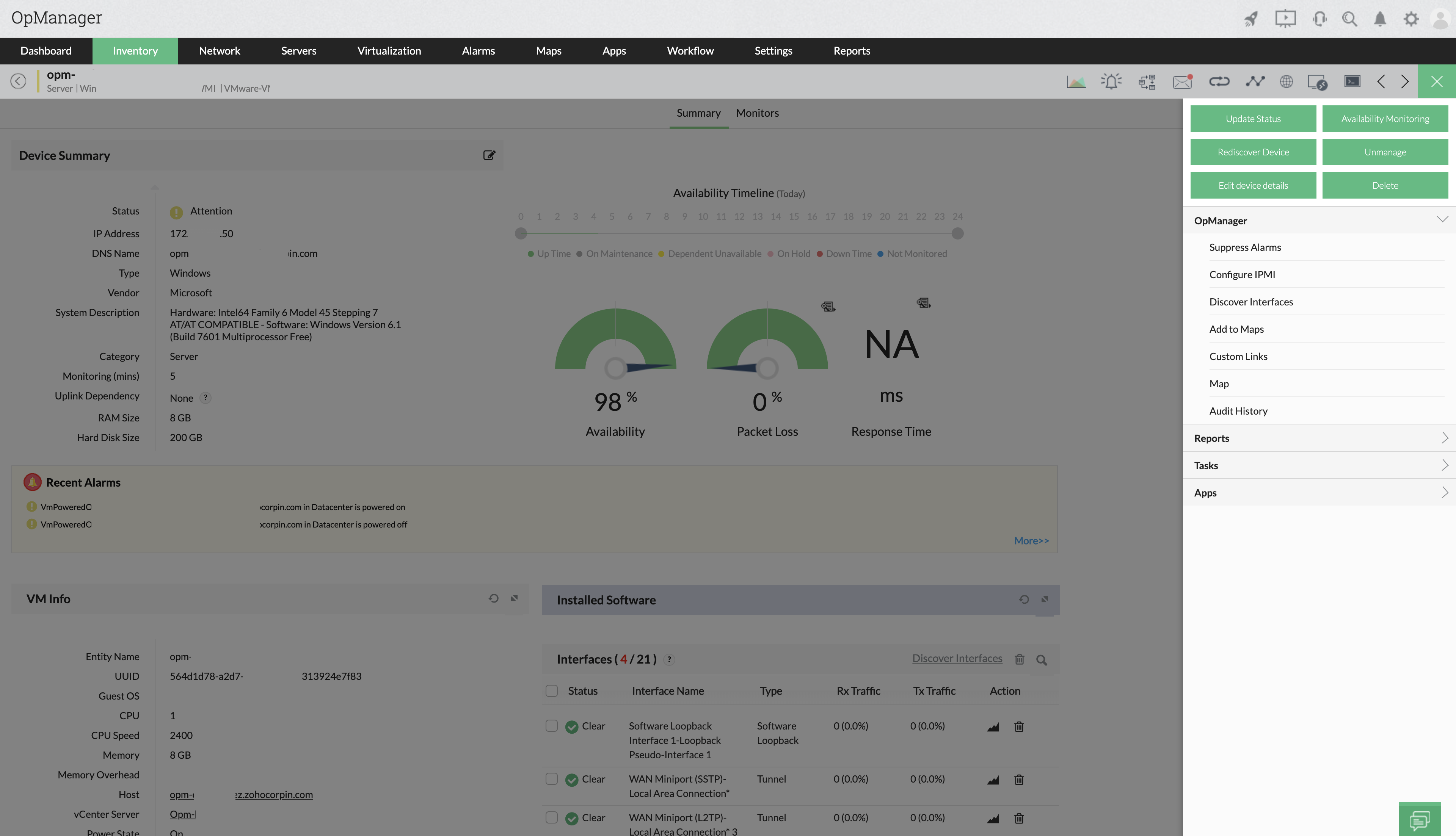 IPMI Monitoring - ManageEngine OpManager