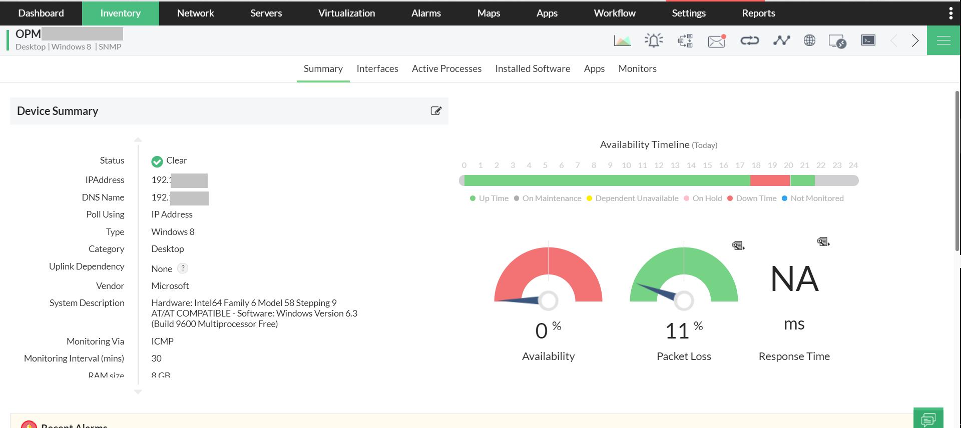 Enterprise Monitoring - ManageEngine OpManager
