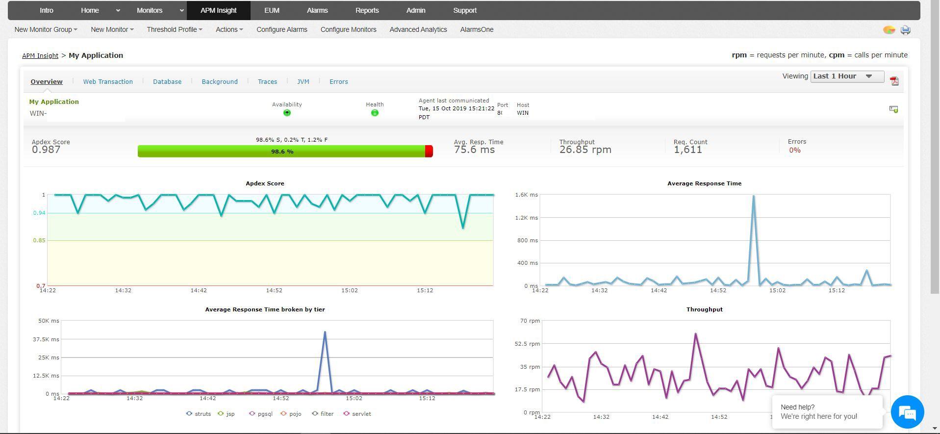 Screenshot of ApM Plugin - ManageEngine OpManager