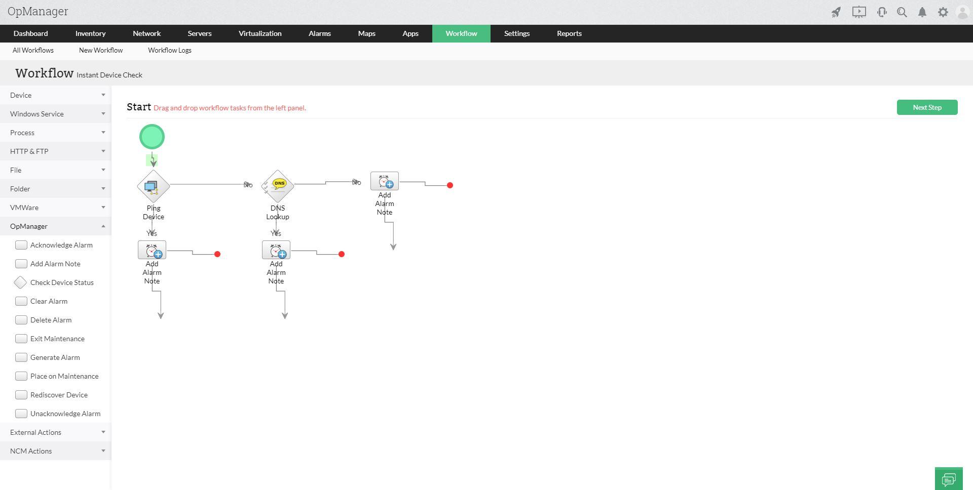 Network Software Task - ManageEngine OpManager