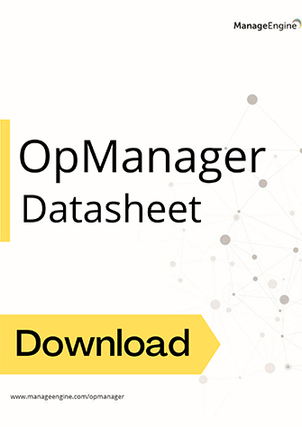 Workflow automation tool - ManageEngine OpManager