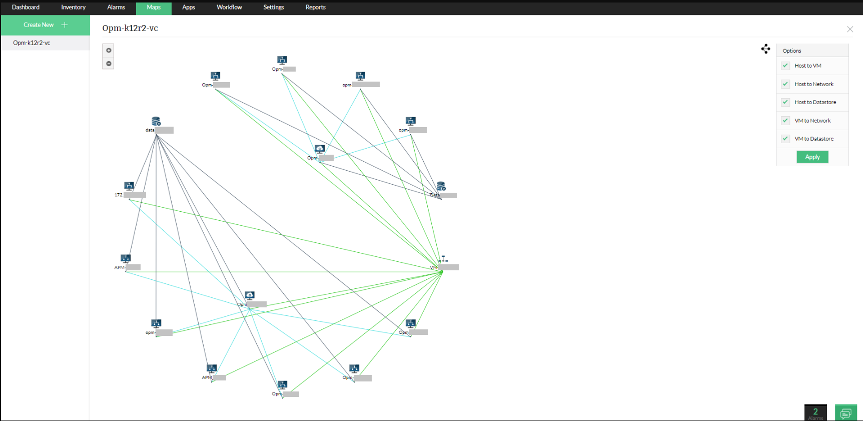 Network Infrastructure Diagram Tool - ManageEngine OpManager