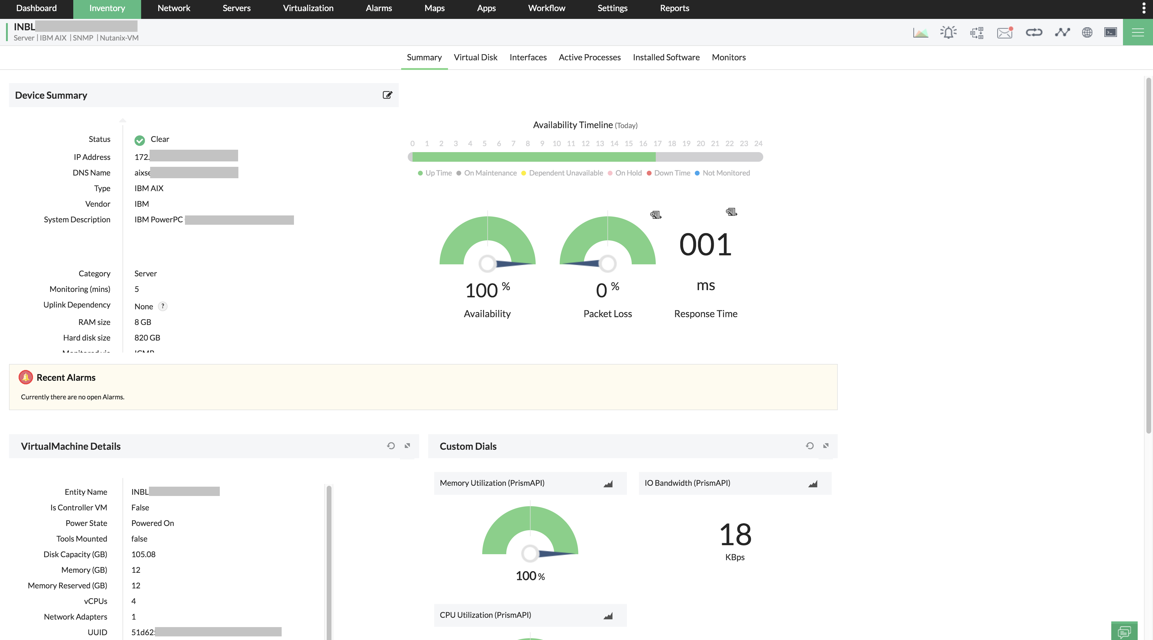 Nutanix VM Performance Monitoring - ManageEngine OpManager