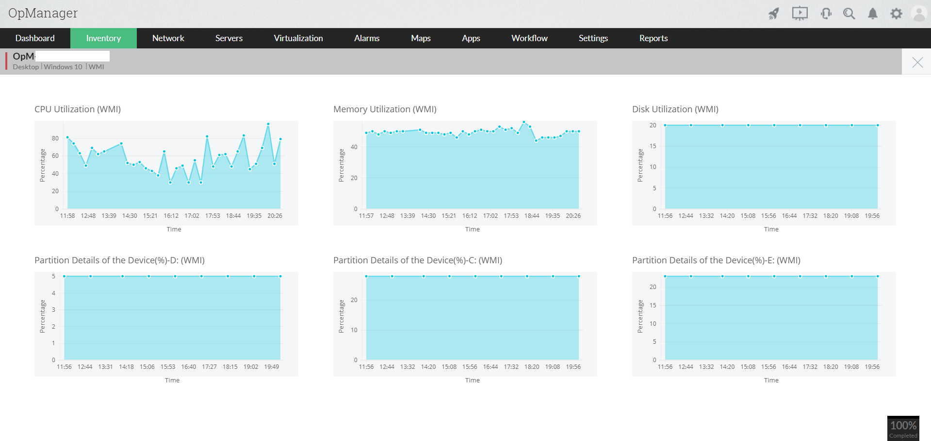 Real time interface traffic