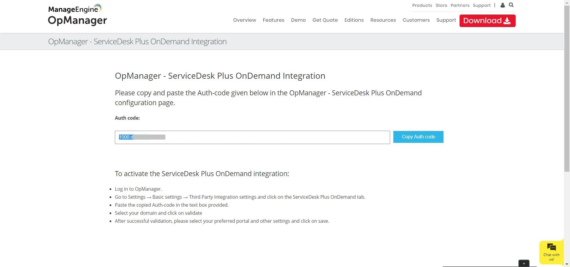 ServiceDesk Plus (SDP) OnDemand Integration with OpManager - ManageEngine