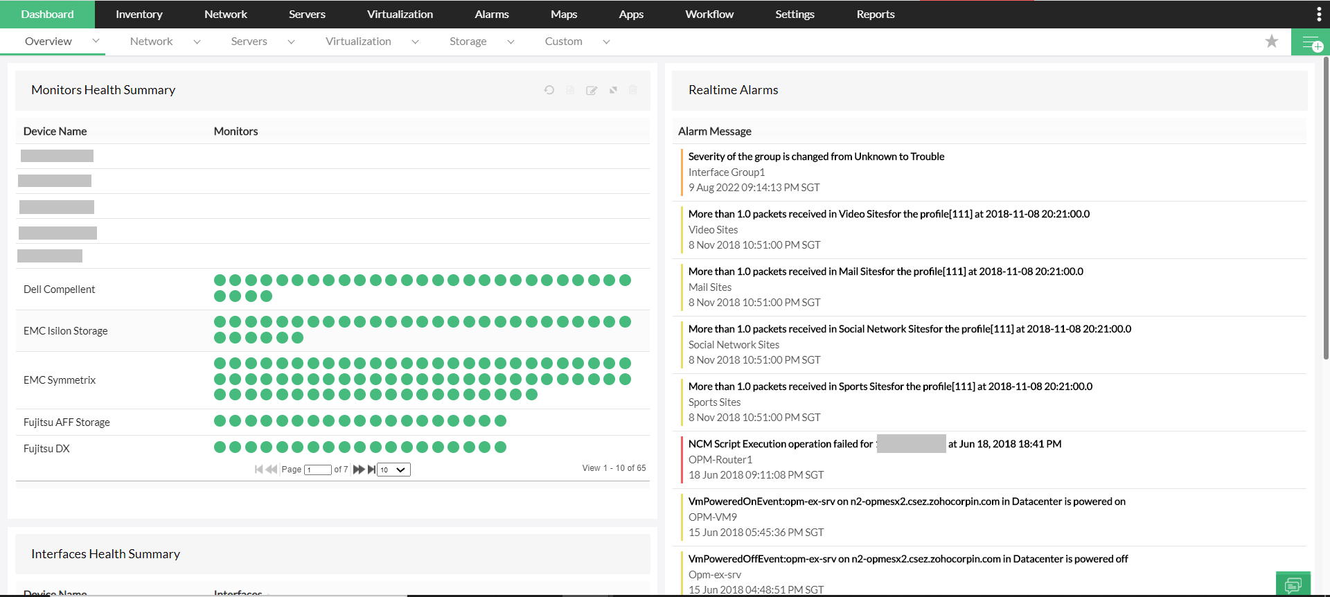 Performance Monitoring and Reporting System - ManageEngine OpManager