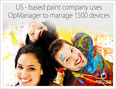 US-based Paint company uses OpManager to manage 1500 devices