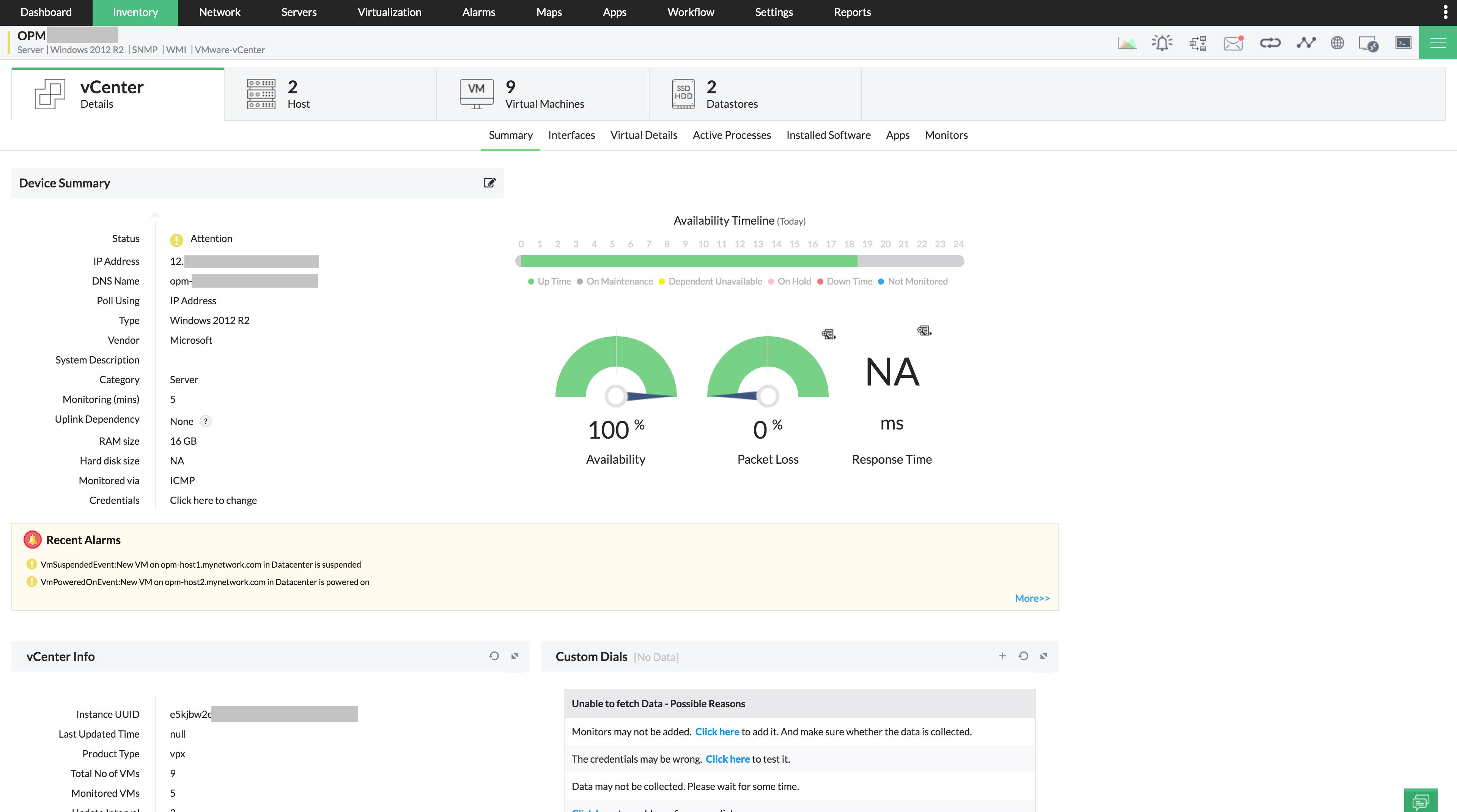 vSphere Monitoring & Performance
