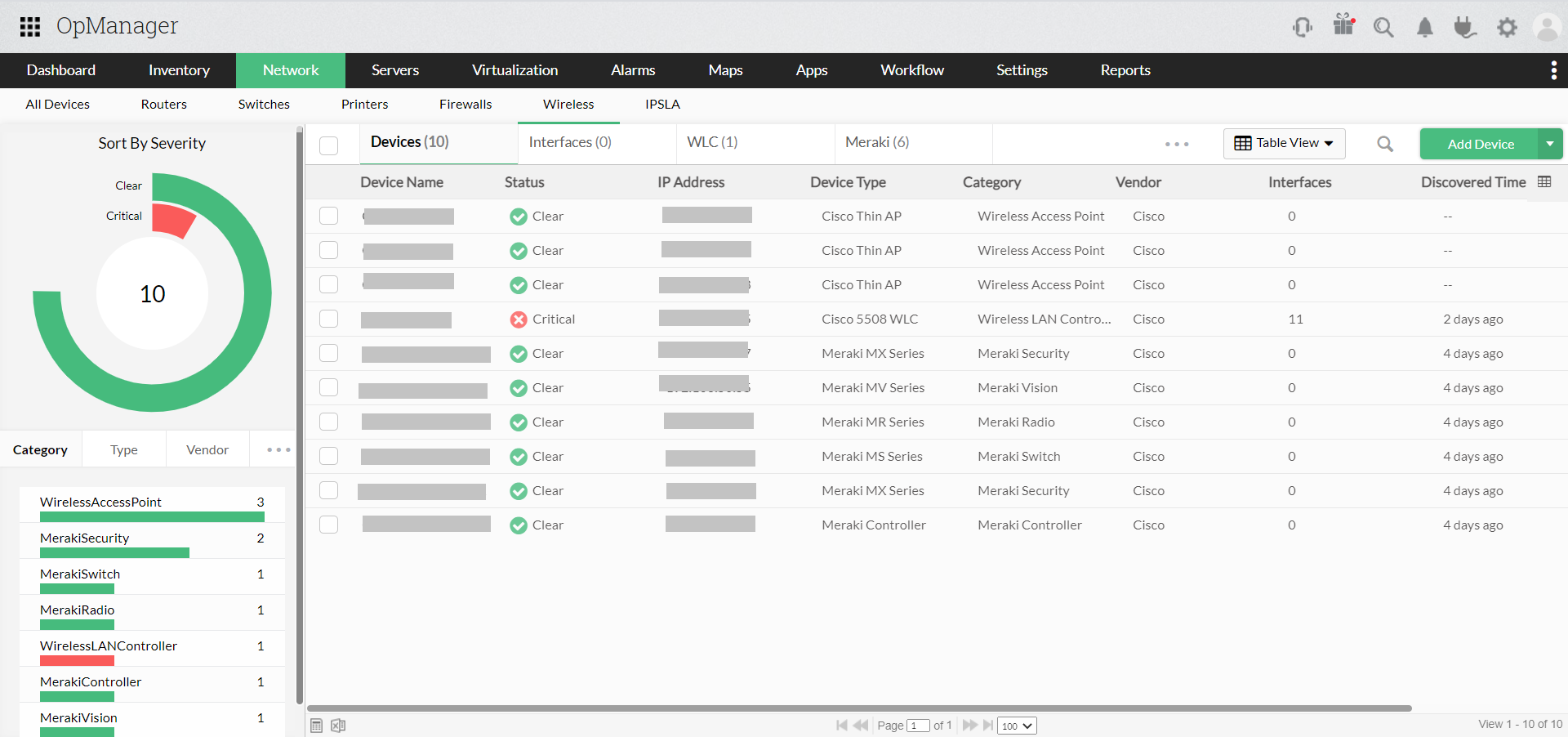 Wireless Monitoring - ManageEngine OpManager