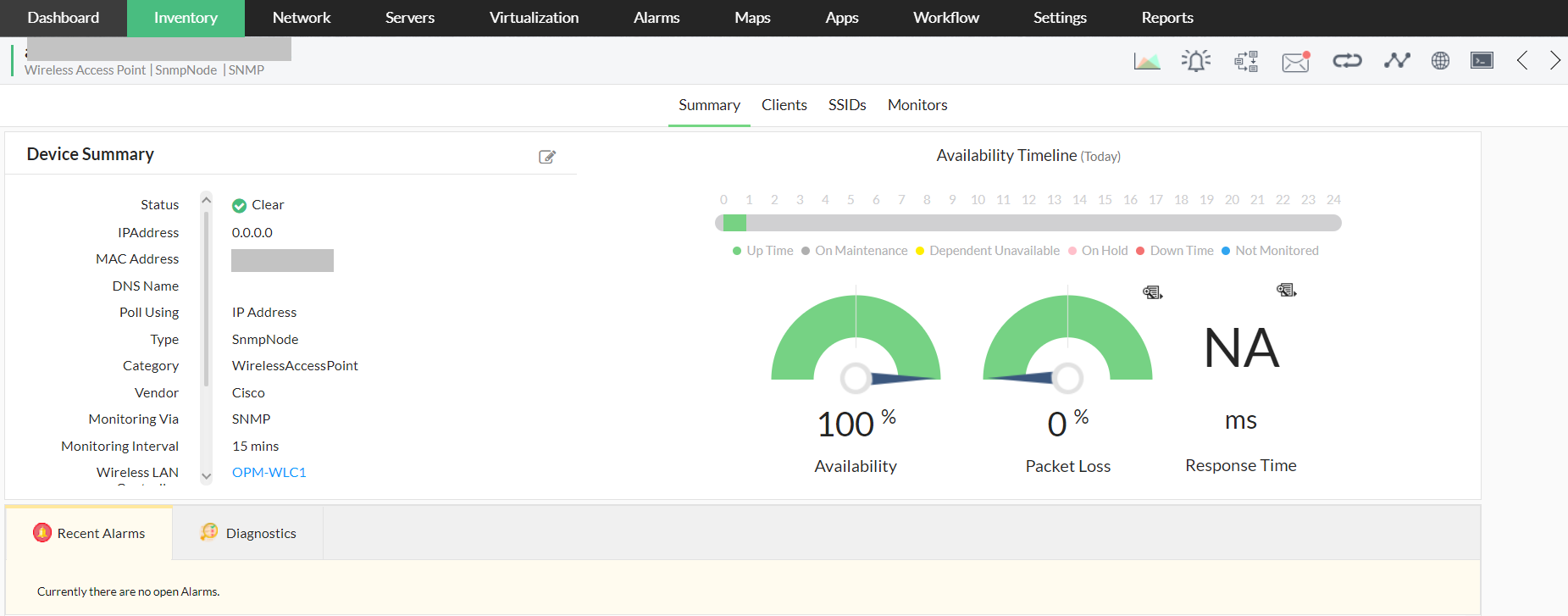 Wireless Monitoring Software - ManageEngine OpManager