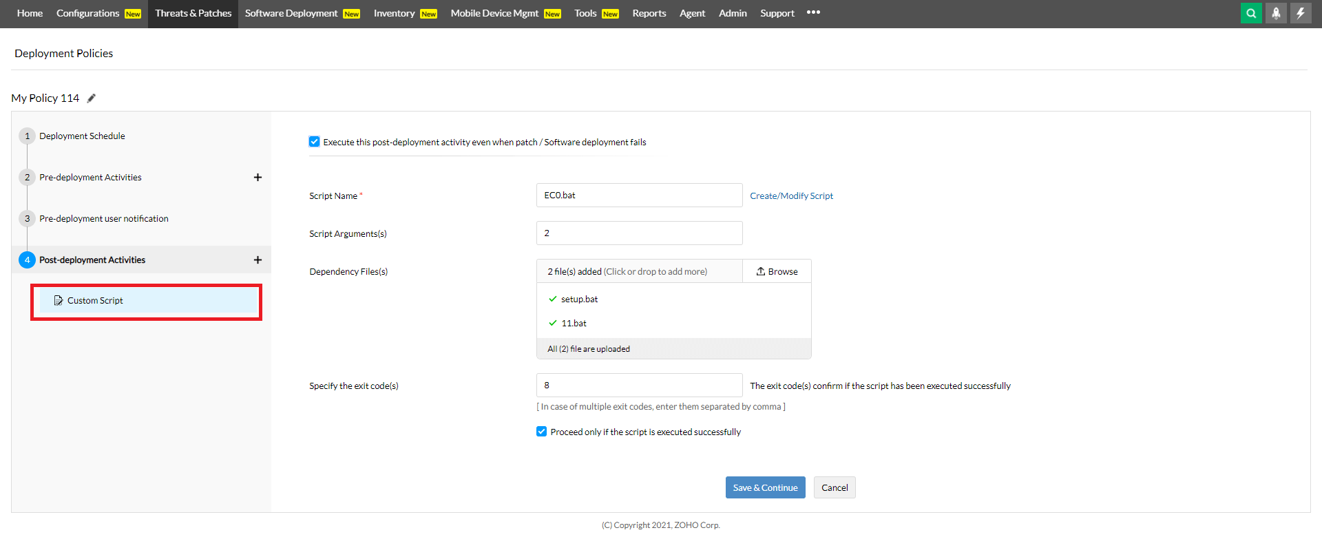 Select/Fill in details