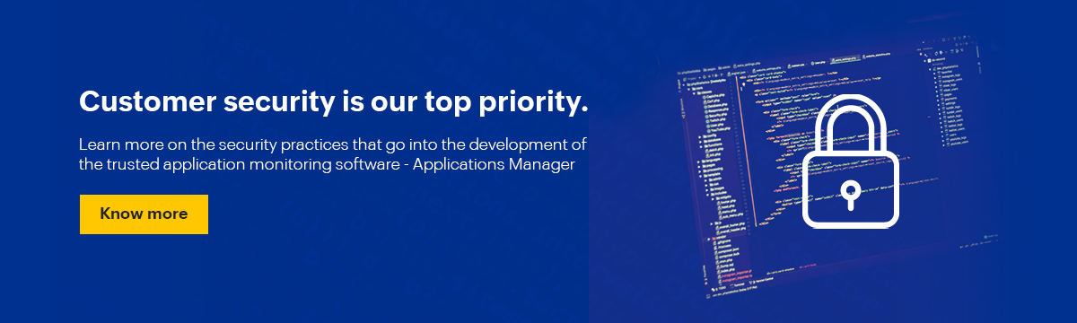App Performance Monitoring - ManageEngine Applications Manager