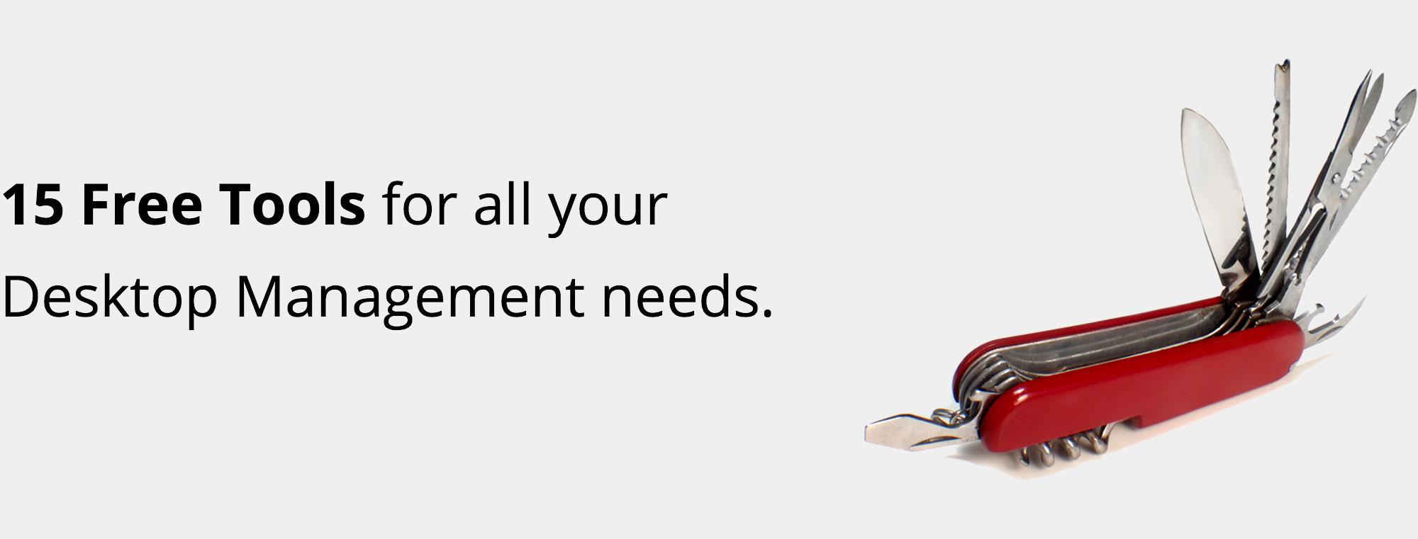Free tools for desktop management.