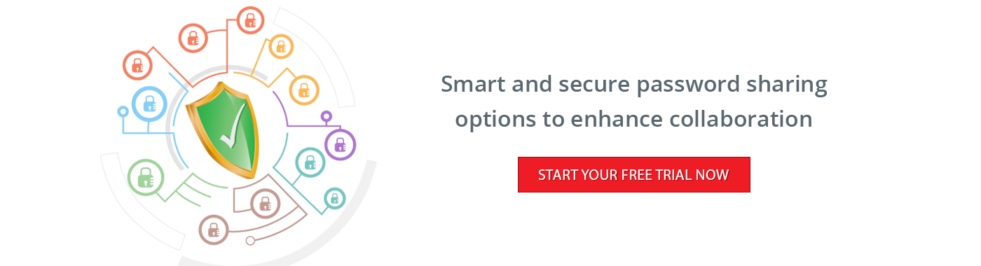 Smart and secure password sharing options to enhance collaboration