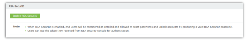 Enable Two-Factor Authentication via RSA SecurID