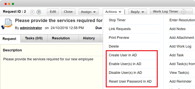 AD password reset tool