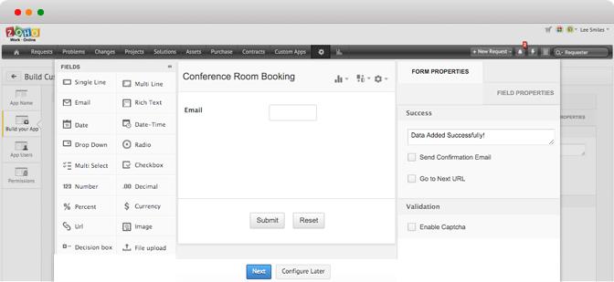 Custom Application Development Platform