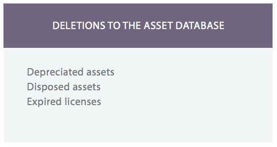 Asset database software : Delete or remove it assets