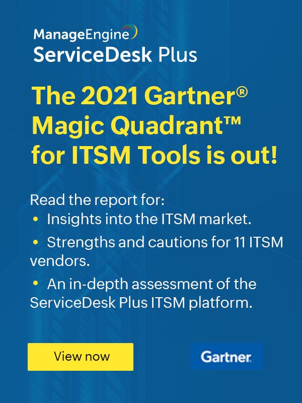 ITSM gartner magic quadrant