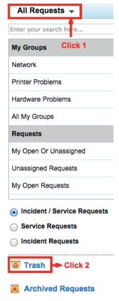 Trash helpdesk requests