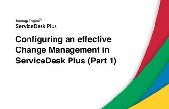 Steps to configure change management