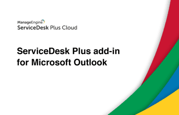Microsoft outlook add-in for service desk