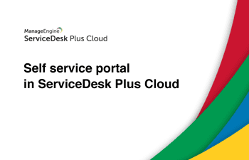 IT self service portal