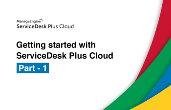 ServiceDesk Plus Cloud software